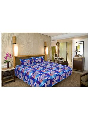 Unnati Ralb-11 Multicolored Bedsheet Set Of 1 With 2 Pillow Covers