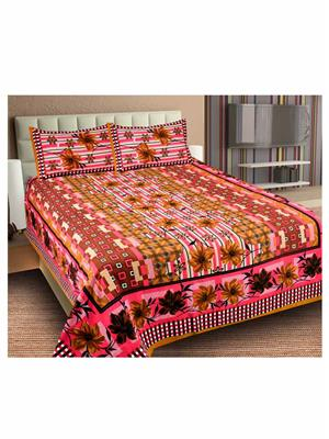 Unnati Ralj-23 Multicolored Bedsheet Set Of 1 With 2 Pillow Covers