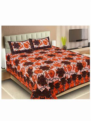 Unnati Ralj-40 Multicolored Bedsheet Set Of 1 With 2 Pillow Covers