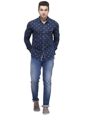 Spykar RANGER S15-07 Blue Men Casual Shirt