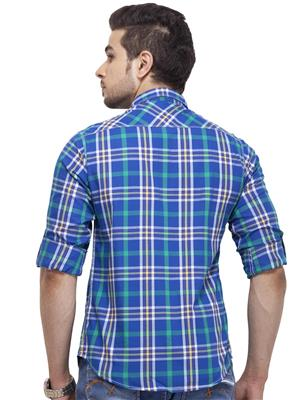 Spykar RANGER S15-16 Blue Men Casual Shirt