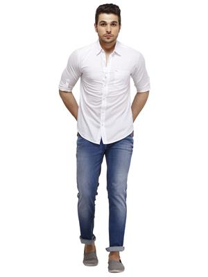 Spykar RANGER S15-25 White Men Casual Shirt