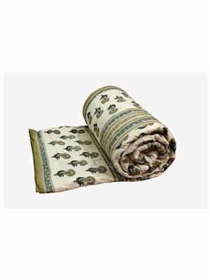 Rolycreation RCL3019 Cream Blanket and Quilt
