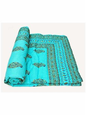 Rolycreation RCM2005 Blue Blanket and Quilt