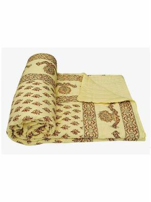 Rolycreation RCM3023 Yellow Blanket and Quilt