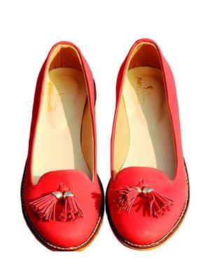 PrideS Walk Tassel01 Red Women Loafers