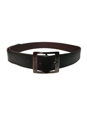 Ansh Fashion Wear REG-BLK-A Black Men Belt