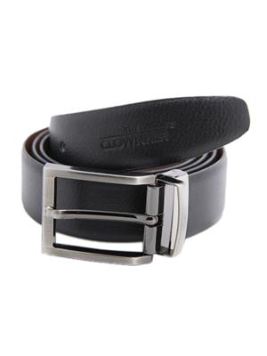 Ansh Fashion Wear REVERSE-BT-E Black Men Belt