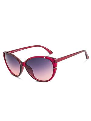 Rafa RF7228-REDGRDGRY Red Unisex Cateye Sunglasses