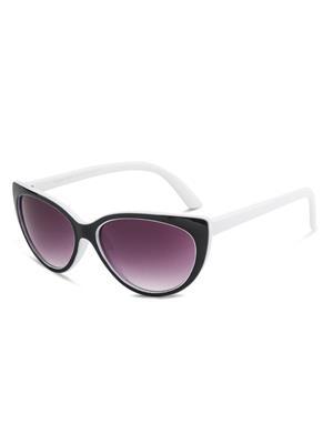 Rafa RF7230-BLKWHTGRY Black Unisex Cateye Sunglasses