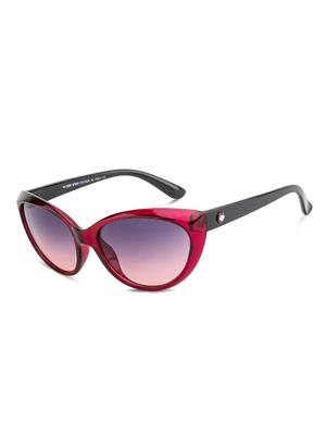 Rafa RF7232-PURPBLKGRY Purple Unisex Cateye Sunglasses