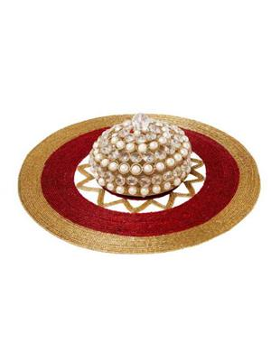 HOMEZ RGM 004 Red Gold Beaded Mat