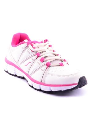 ESCAN RNICALES-630014 White And Pink Women Sport Shoes