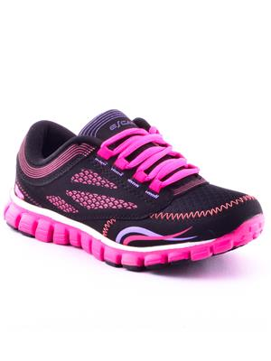 ESCAN RNICALES-6952 Black And Pink Women Sport Shoes