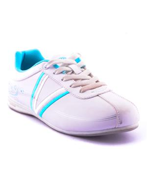 ESCAN RNICALFR-6700055 White And Blue Women Sport Shoes
