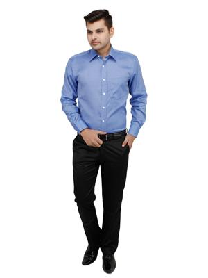 Zodiac ROR10 Blue Men Formal Shirt