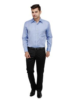 Zodiac ROR2 Blue Men Formal Shirt