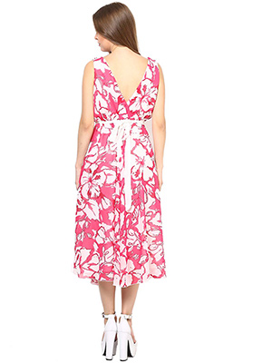 Rose Vanessa RS 094 Cross Marlyn Flare Pink Dress