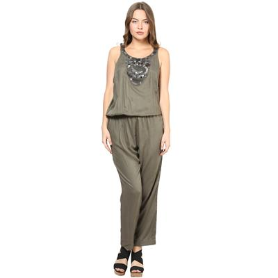 Rose Vanessa RS 121 Embellished Olive Jumpsuits