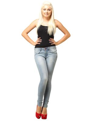 Rich & Skinnys  RS 10 Light Blue Women Jeans