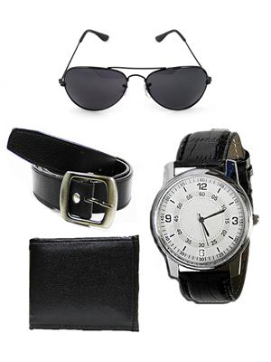 Ansh Fashion Wear RV-SNGLS-BLT-RIO-PRS  Watch,Belt,Wallet With Sunglass