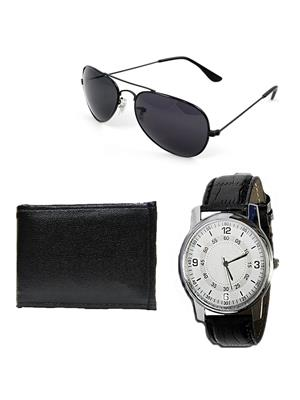 Ansh Fashion Wear RV-SNGLS-PRS-RIO  Watch,Wallet With Sunglass