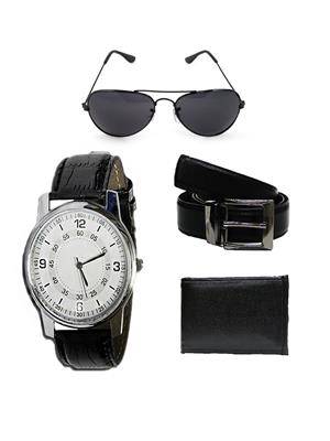 Ansh Fashion Wear RV-SNGLS-RIO- RVRS-BLT-PRS  Watch,Belt,Wallet With Sunglass