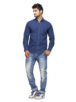 Spykar Ranger-S15-09 Blue Men Casual Shirt