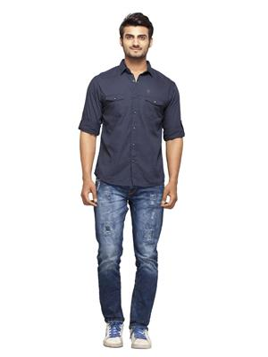 Spykar Ranger-S15-22 Blue Men Casual Shirt