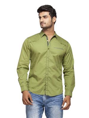 Spykar Ranger-S15-24 Green Men Casual Shirt