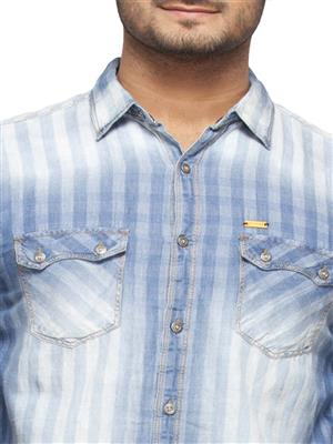Spykar Ranger-S15-31 Blue Men Casual Shirt