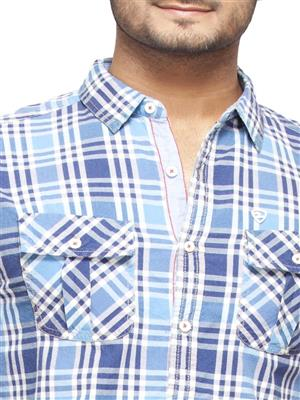 Spykar Ranger-S15-34 Blue Men Casual Shirt