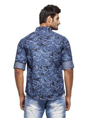 Spykar Ranger-S15-39 Blue Men Casual Shirt