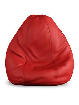 Beans Bag House Red-Std  Bean Bag Cover