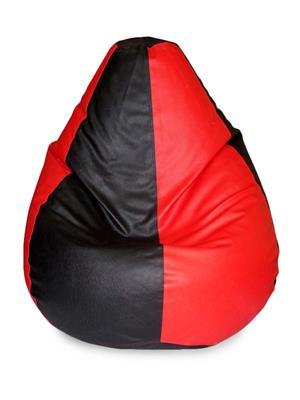 Beans Bag House Red & Black-Std  Bean Bag Cover