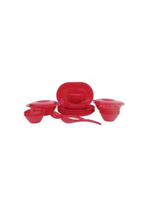 Incrizma Round-Red Dinner Set