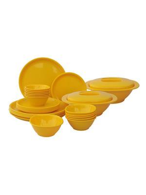 Incrizma Round-Yellow Dinner Set