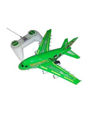 Shagun Fibres  S-6  Green Plen Battery Operated Aeroplane