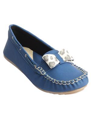 Schtaron S0013 Blue Women Loafer