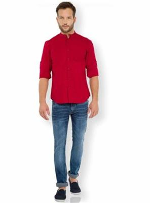 Signature Graphic S03 Red Men Formal Shirts