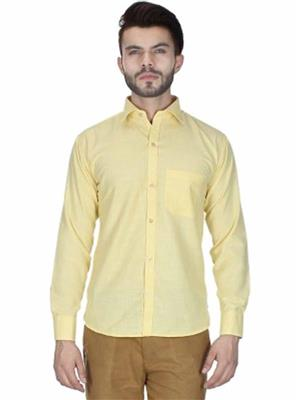 Signature Graphic S05 Yellow Men Formal Shirts