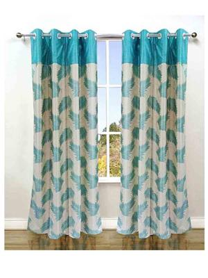 SAI ARPAN SAI00005151 Light Blue Door Curtain