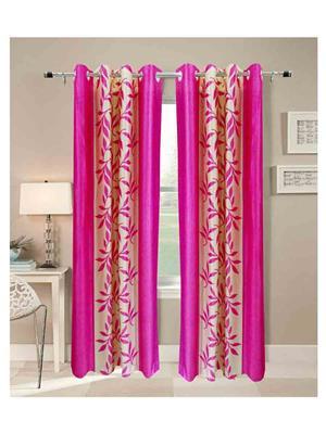 SAI ARPAN SAI00005161-2Pc Pink Door Curtain