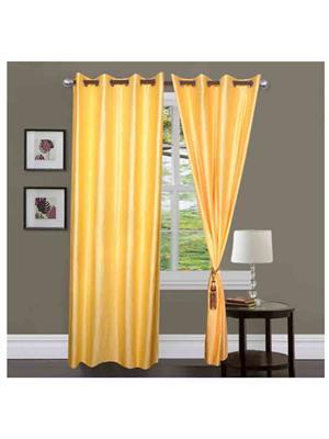 SAI ARPAN SAI00005164-YL-2PC Yellow Door Curtain