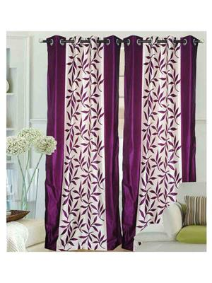 SAI ARPAN SAI000055159-Purple-7Ft Purple Door Curtain