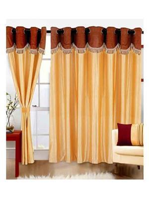 SAI ARPAN SAI00100203 Yellow Door Curtain