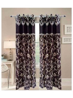 SAI ARPAN SAI00100211-2Pc Black Door Curtain