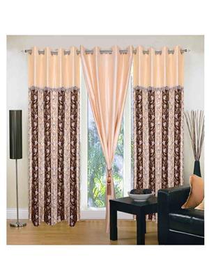 SAI ARPAN SAI00100352 Brown Door Curtain