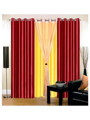 SAI ARPAN SAI00100410 Multicolor Door Curtain