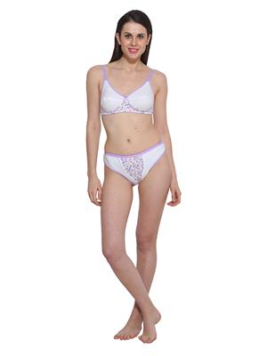 Colors Sbp02 White Women Lingerie Set